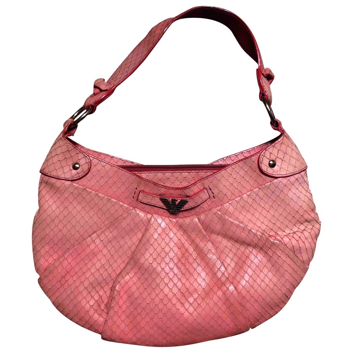Emporio Armani \N Pink Leather handbag for Women \N