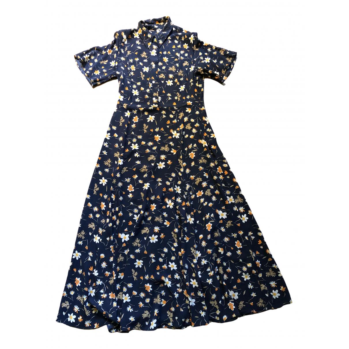 Arket \N Kleid in  Marine Viskose