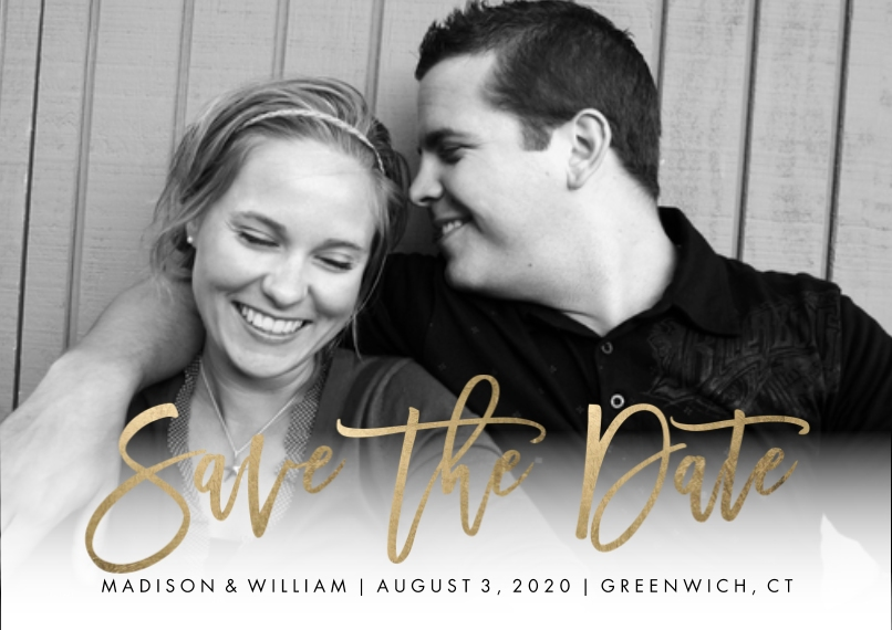Save the Date 5x7 Cards, Standard Cardstock 85lb, Card & Stationery -Save the Date Modern Script