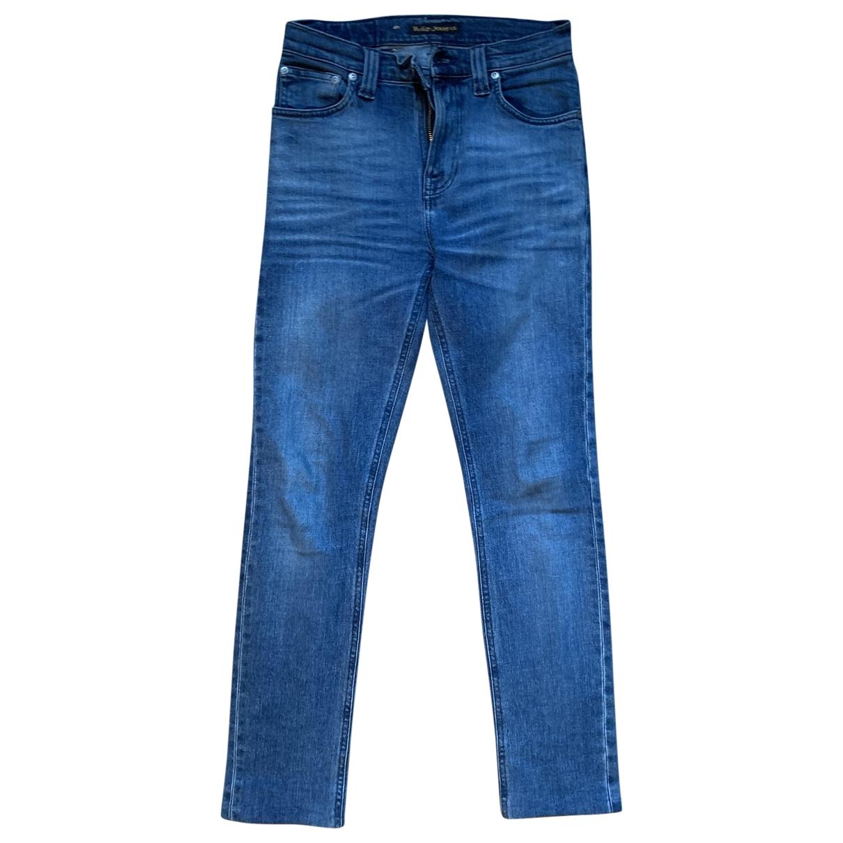 Nudie \N Blue Denim - Jeans Jeans for Women 27 US