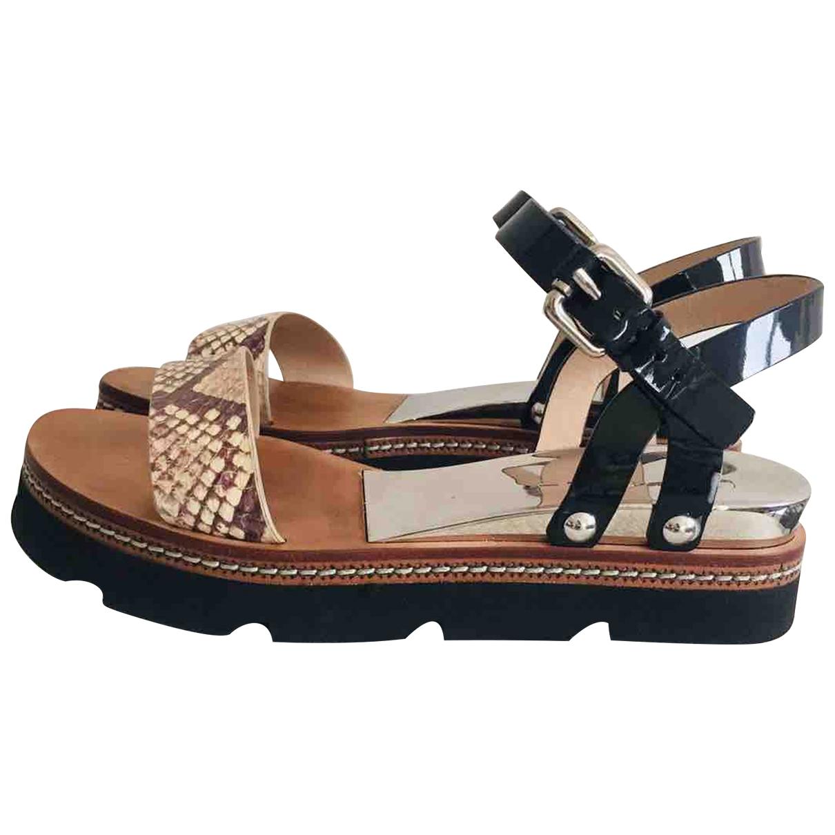 Casadei - Sandales   pour femme en cuir - multicolore
