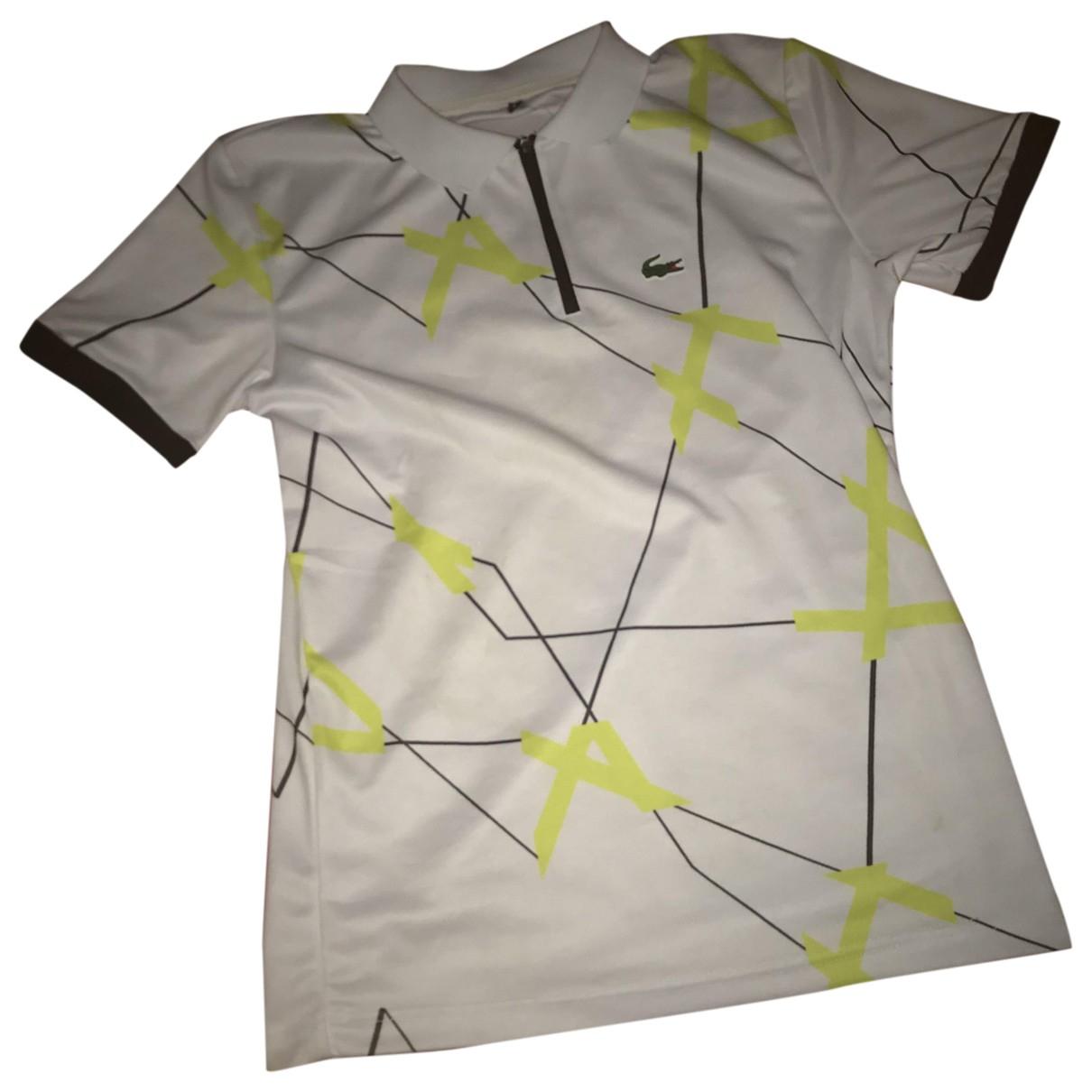Lacoste - Tee shirts   pour homme en coton - blanc