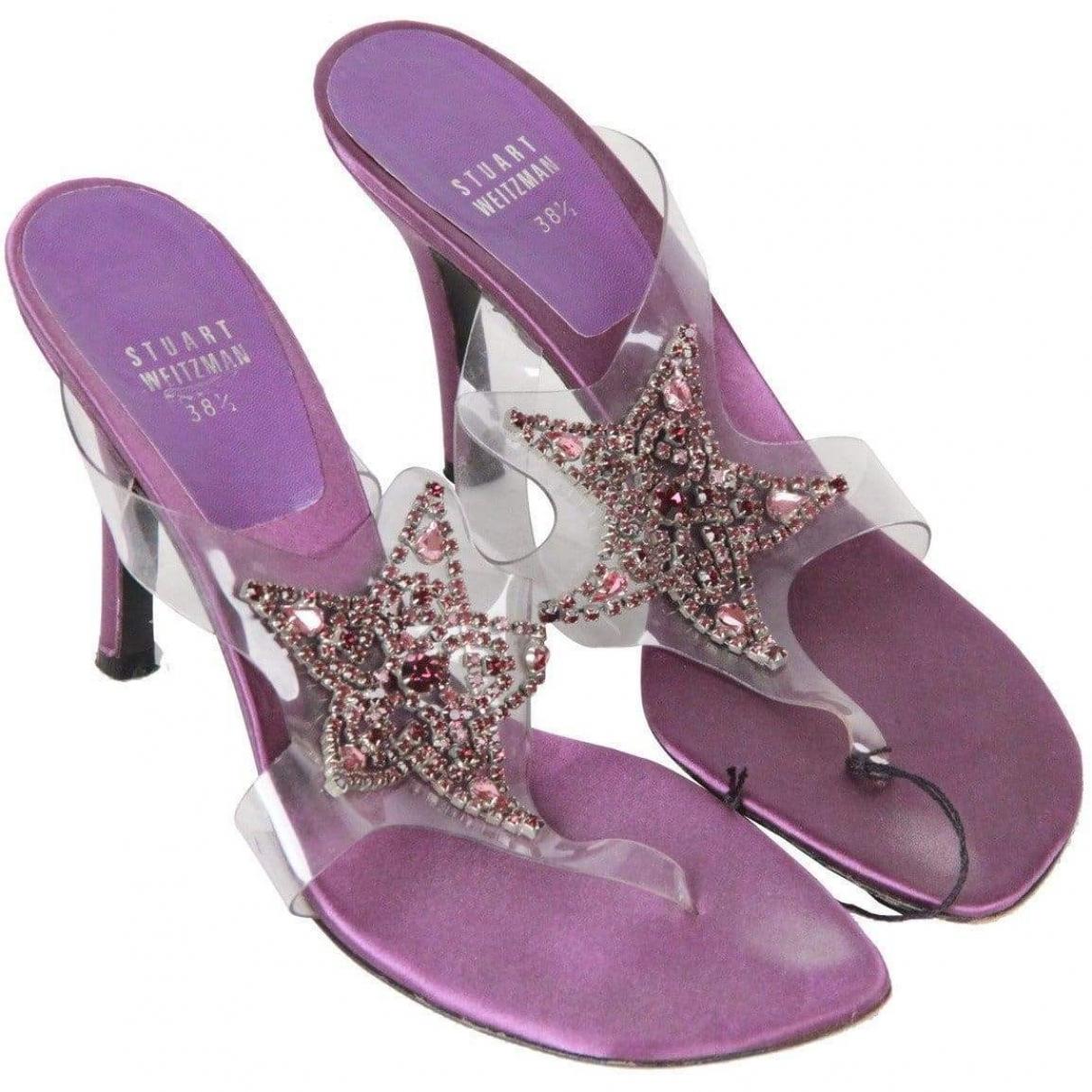 Stuart Weitzman \N Purple Sandals for Women 38.5 EU