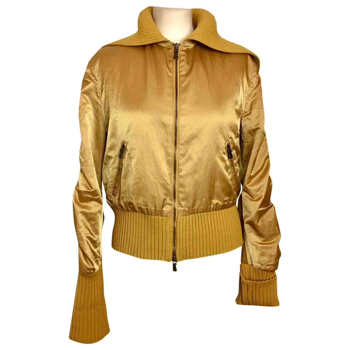 Versace Jeans \N Jacke in  Gelb Baumwolle