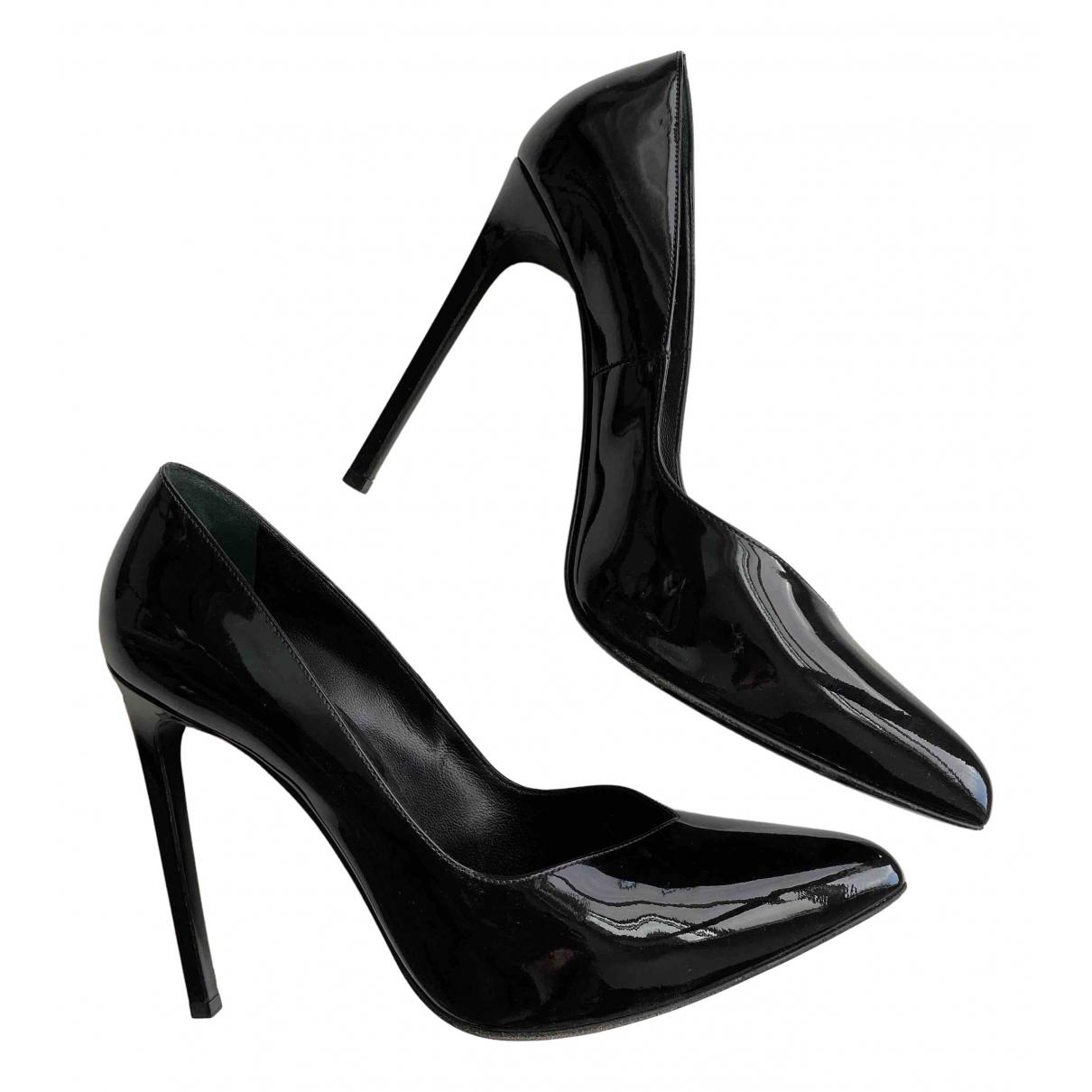 Saint Laurent \N Black Patent leather Heels for Women 39 EU