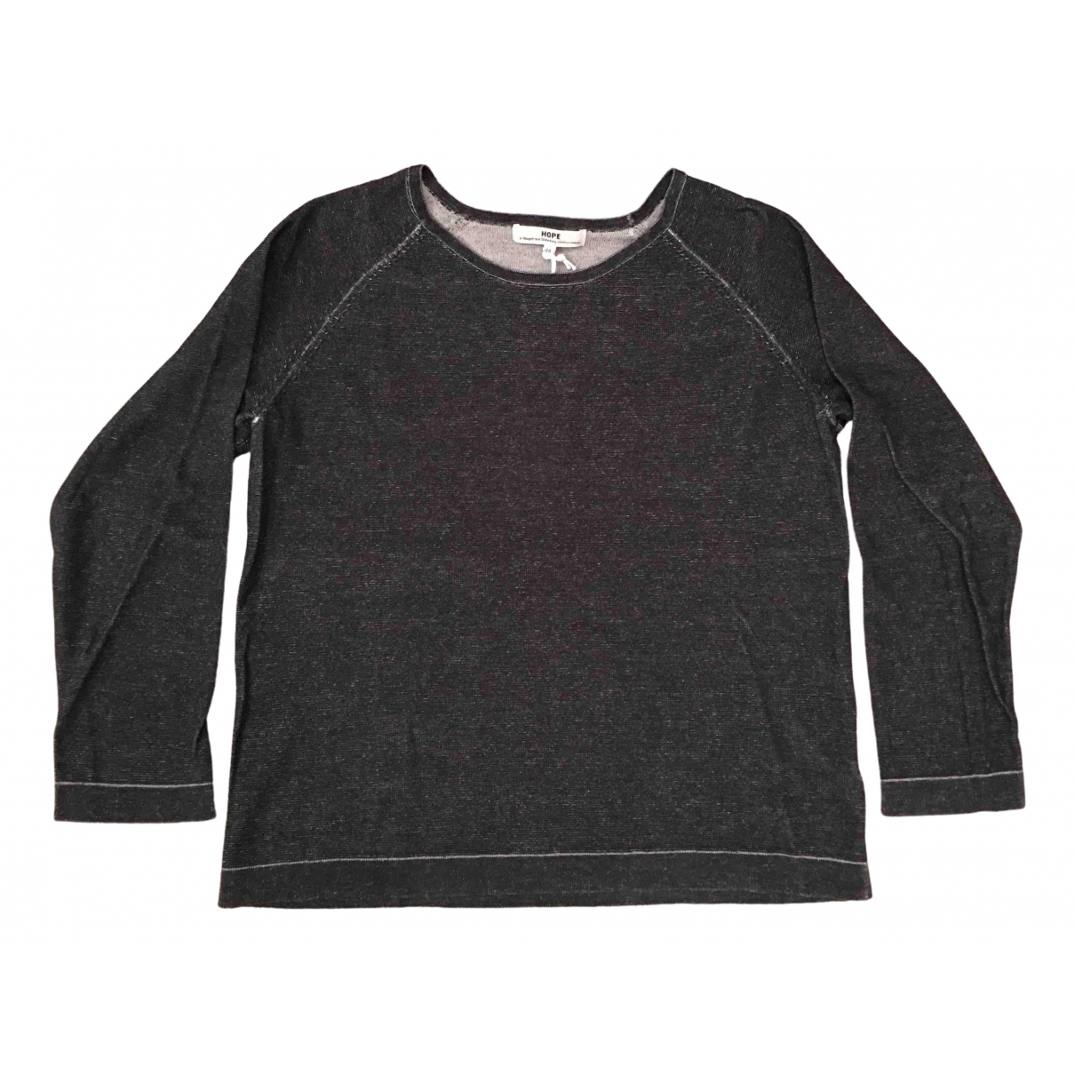 Hope \N Anthracite Cotton Knitwear & Sweatshirts for Men M International