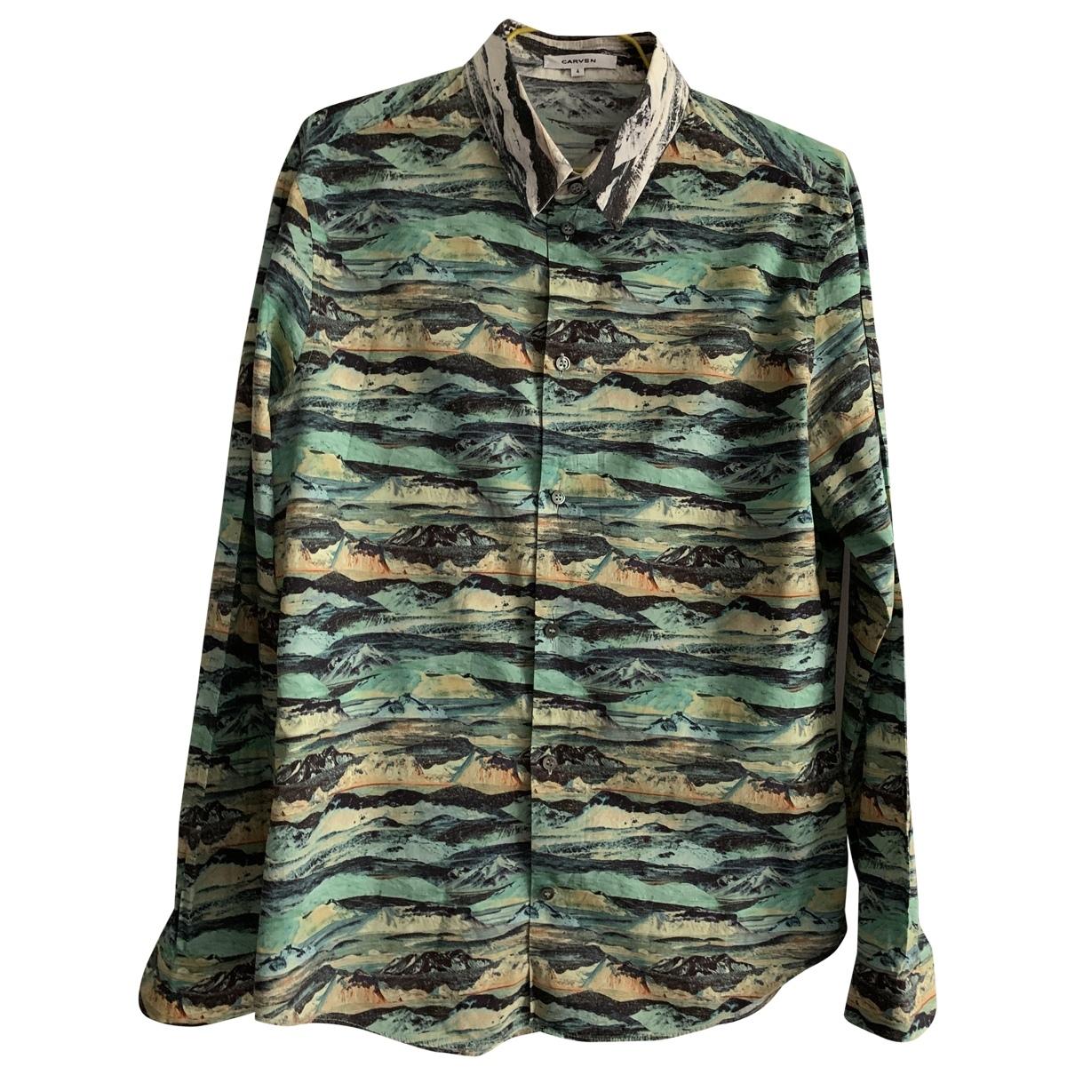 Carven - Chemises   pour homme en coton - vert