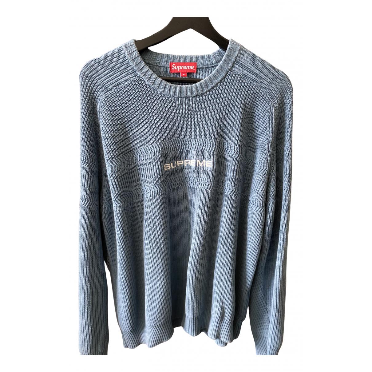 Supreme \N Blue Cotton Knitwear & Sweatshirts for Men M International