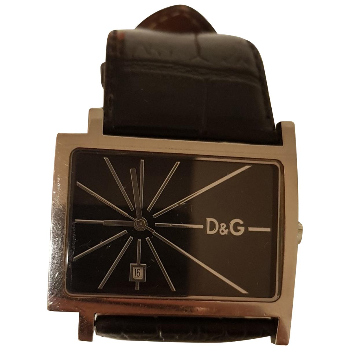 Dolce & Gabbana - Montre   pour femme en acier - noir