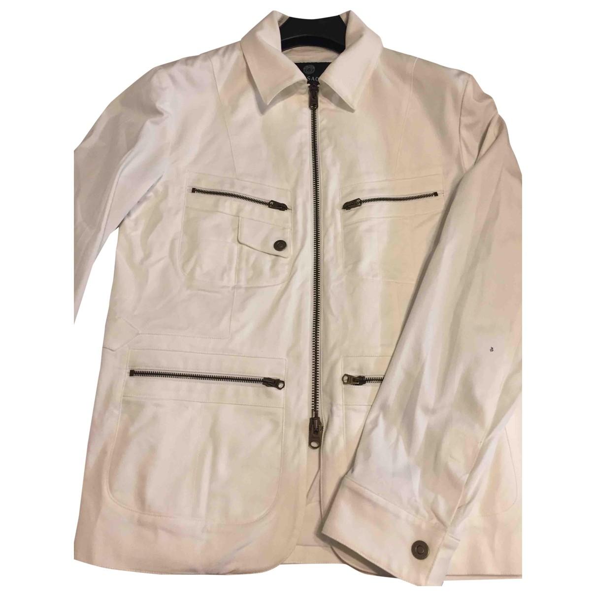 Versace - Vestes.Blousons   pour homme en coton - blanc