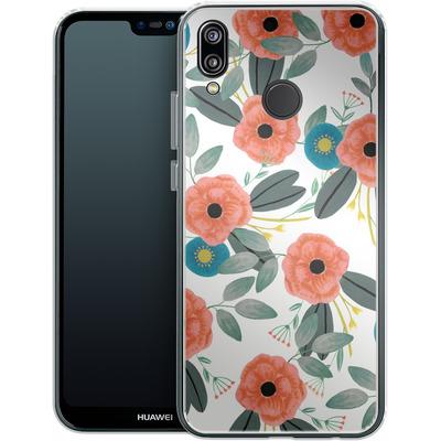Huawei P20 Lite Silikon Handyhuelle - Poppy Dream von Iisa Monttinen