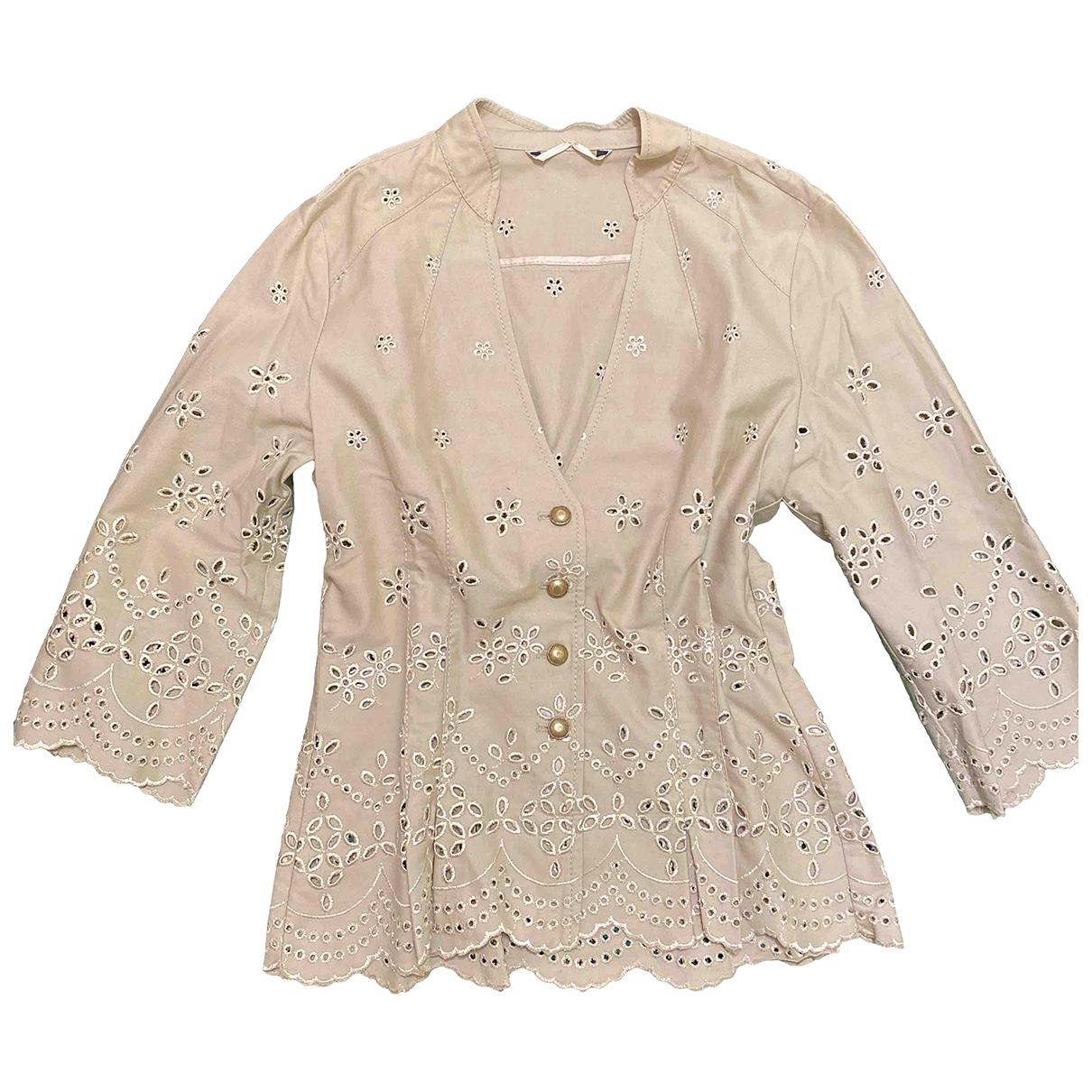 Non Signé / Unsigned \N Beige Cotton  top for Women 40 IT