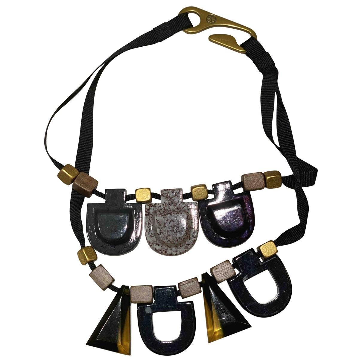 Hoss Intropia - Collier   pour femme en metal - noir