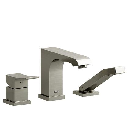 Zendo TZO10BN 3-Piece Deck Mount Tub Filler with Hand Shower Trim  in Brushed