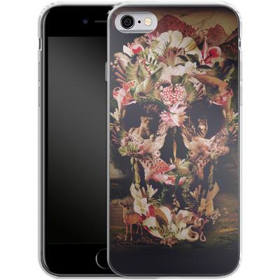 Apple iPhone 6 Silikon Handyhuelle - Jungle Skull von Ali Gulec