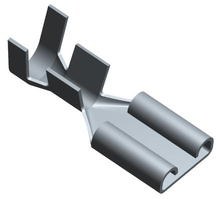 TE Connectivity FASTON .312 Series Crimp Receptacle, 7.49 x 0.81mm, 2mm² to 6mm², 14AWG to 10AWG, Silver Plated (50)