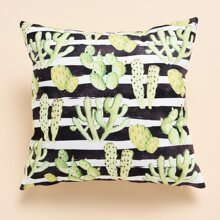 Cactus Print Cushion Cover Without Filler