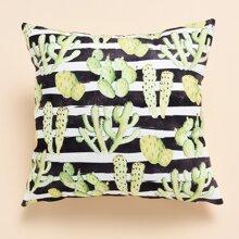 Kissenbezug mit Kaktus Muster ohne Fuelle