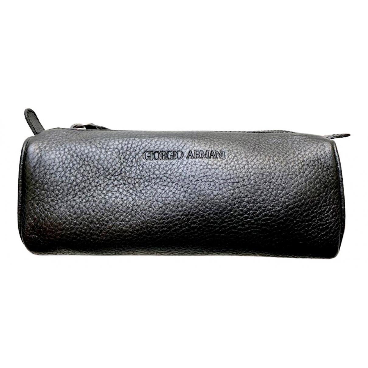Giorgio Armani \N Brown Leather Small bag, wallet & cases for Men \N