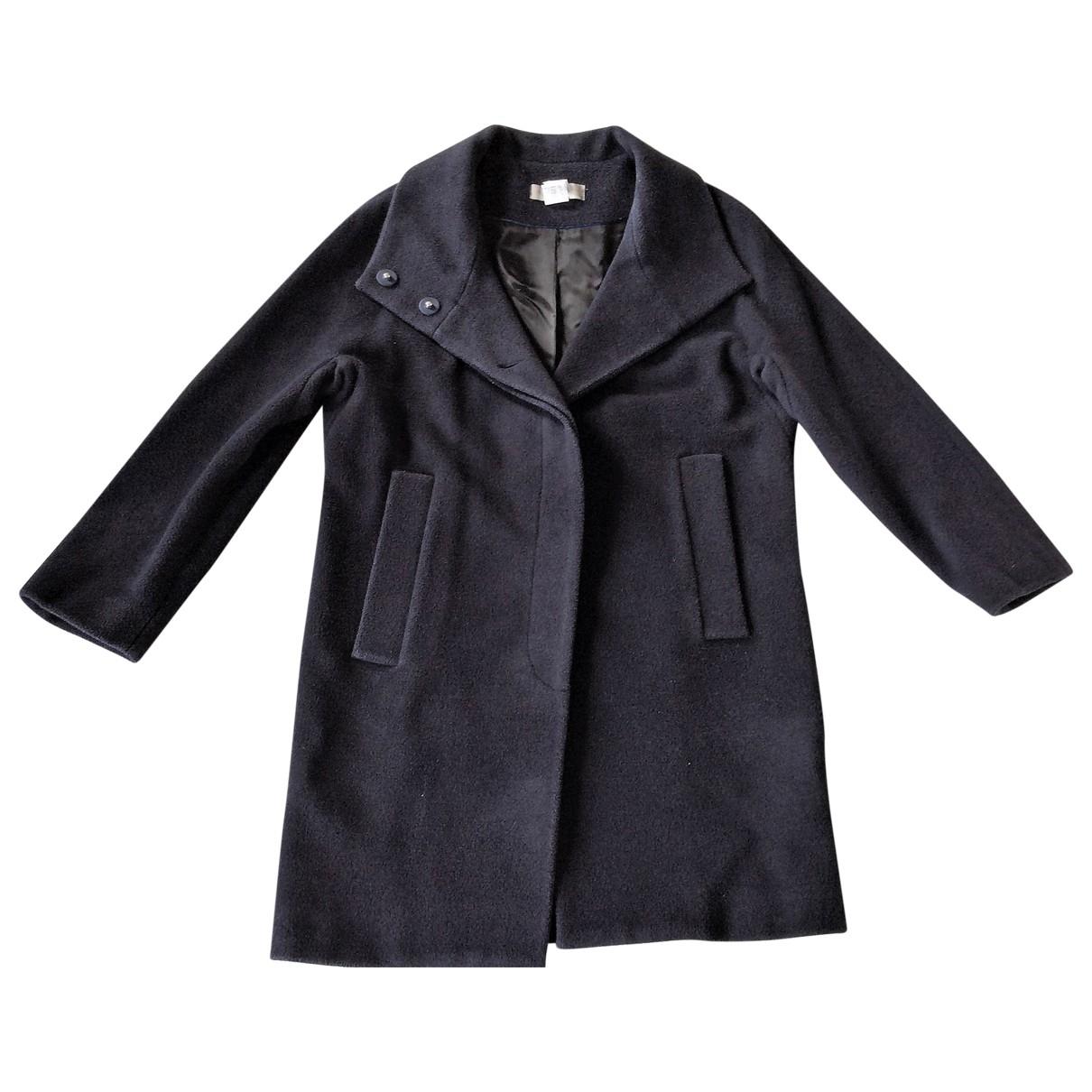 Uterque - Manteau   pour femme en laine - marine