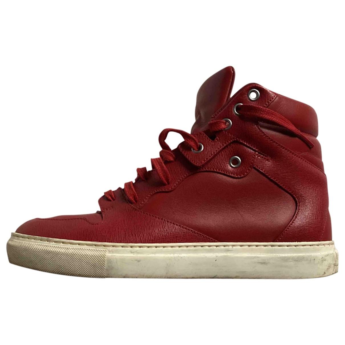 Balenciaga - Baskets   pour homme en cuir - rouge