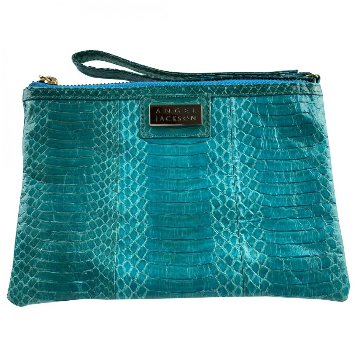Angel Jackson \N Turquoise Water snake Clutch bag for Women \N