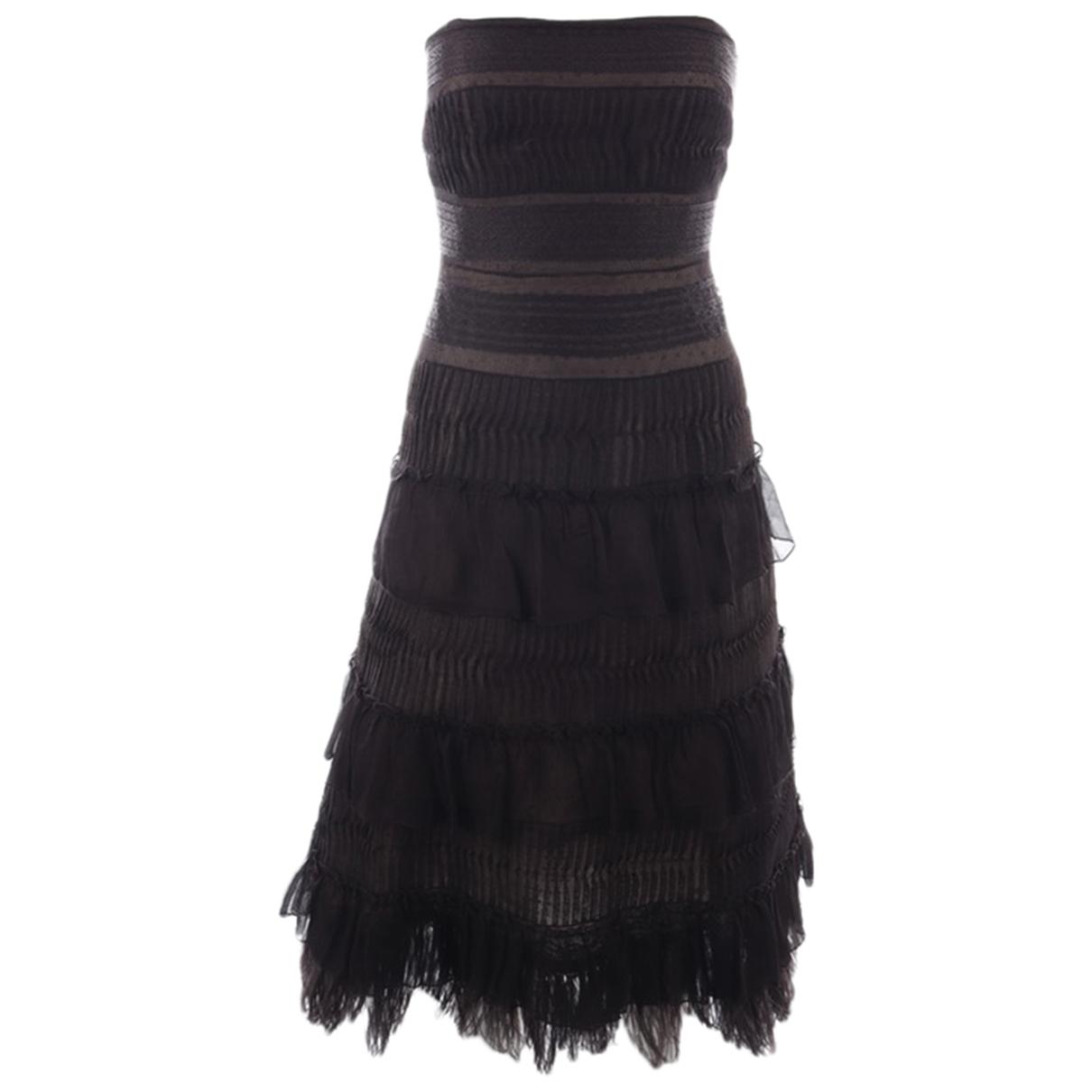 Bcbg Max Azria \N Kleid in  Braun Polyester