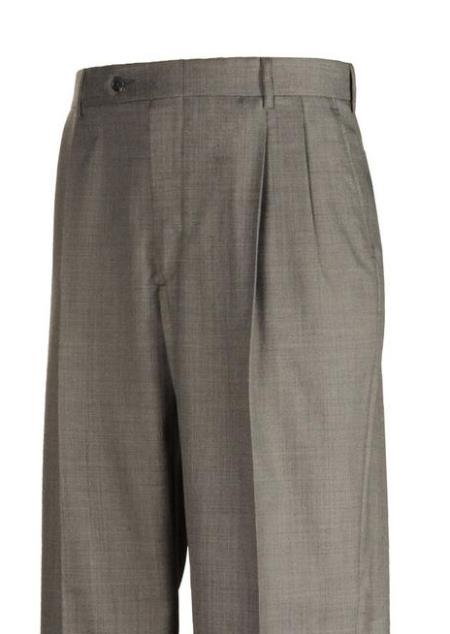 Harwick Clothing Sharkskin Pleated Dress Pants Manufacturers America
