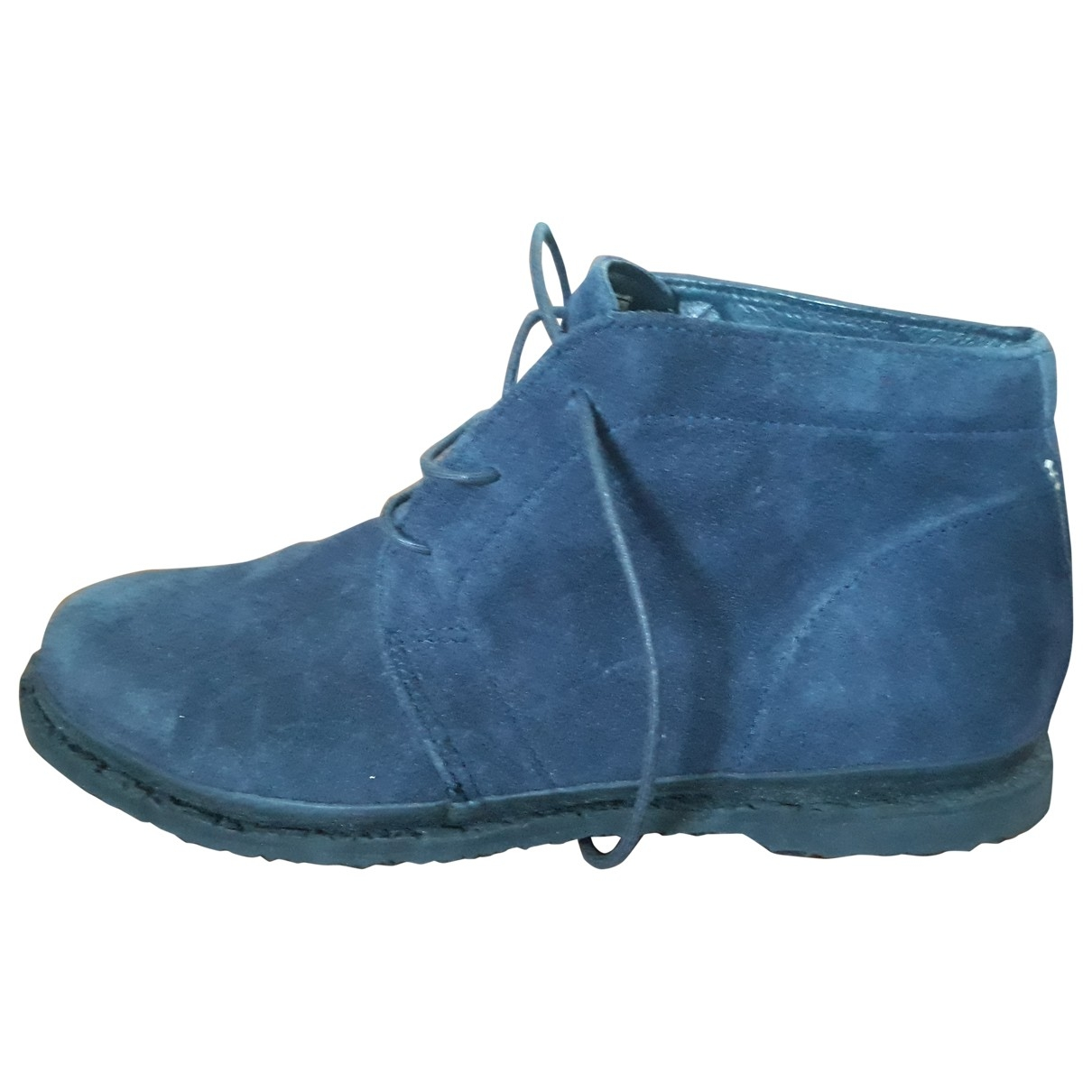 Superga \N Stiefel in  Blau Veloursleder