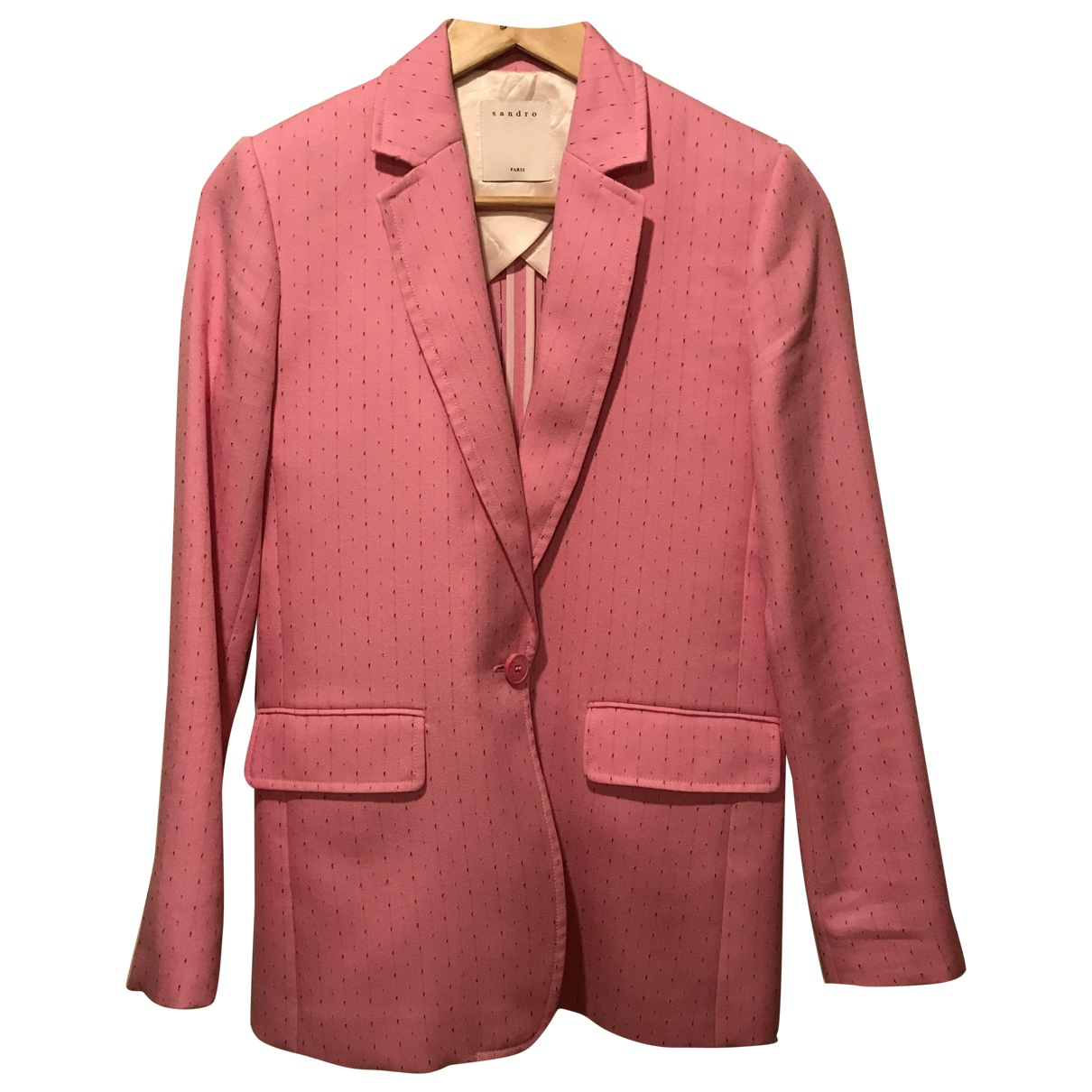 Sandro Spring Summer 2019 Pink Wool jacket for Women 36 FR