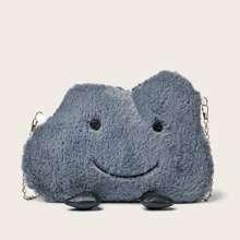 Fluffy Cloud Design Chain Bag