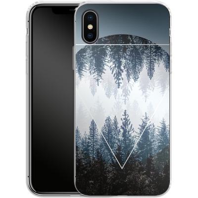 Apple iPhone X Silikon Handyhuelle - Woods 4 von Mareike Bohmer