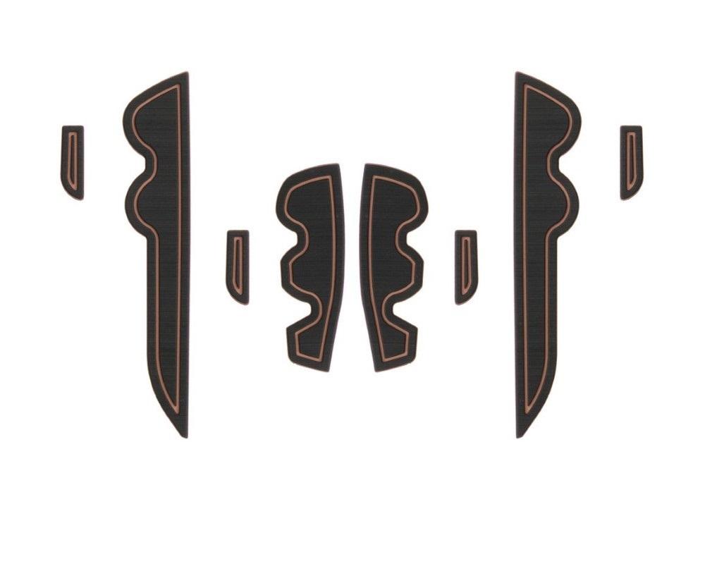 Tufskinz TAC012-FTN-X Side Door Pocket Inserts Fits 2016-2020 Toyota Tacoma 8 Piece Kit In Black/Tan