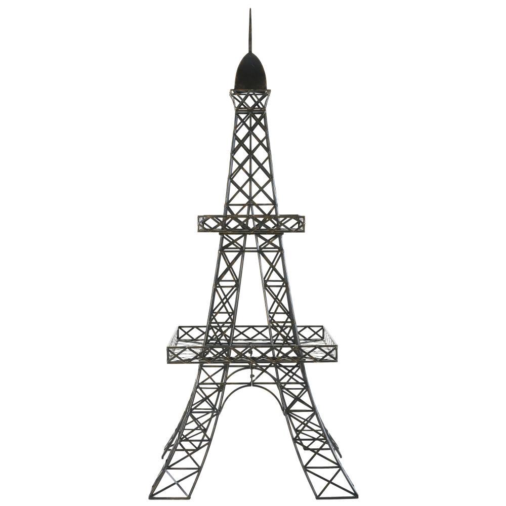 Pflanzenstaender Eiffelturm aus schwarzem Metall