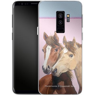 Samsung Galaxy S9 Plus Silikon Handyhuelle - Pferdefreunde Rosa von Pferdefreunde
