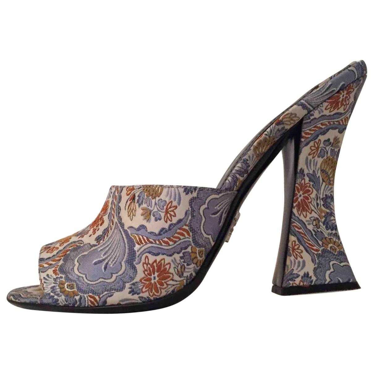 Prada - Sandales   pour femme en toile - bleu