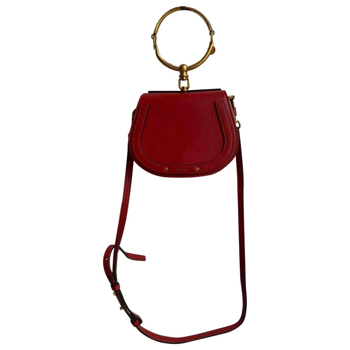 Chloe Bracelet Nile Handtasche in  Rot Leder