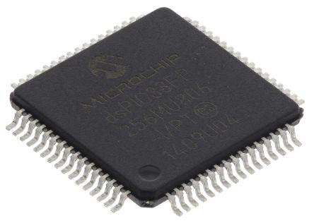 Microchip dsPIC33EP256MU806-I/PT , 16bit DSP 70MHz 280 kB Flash 64-Pin TQFP