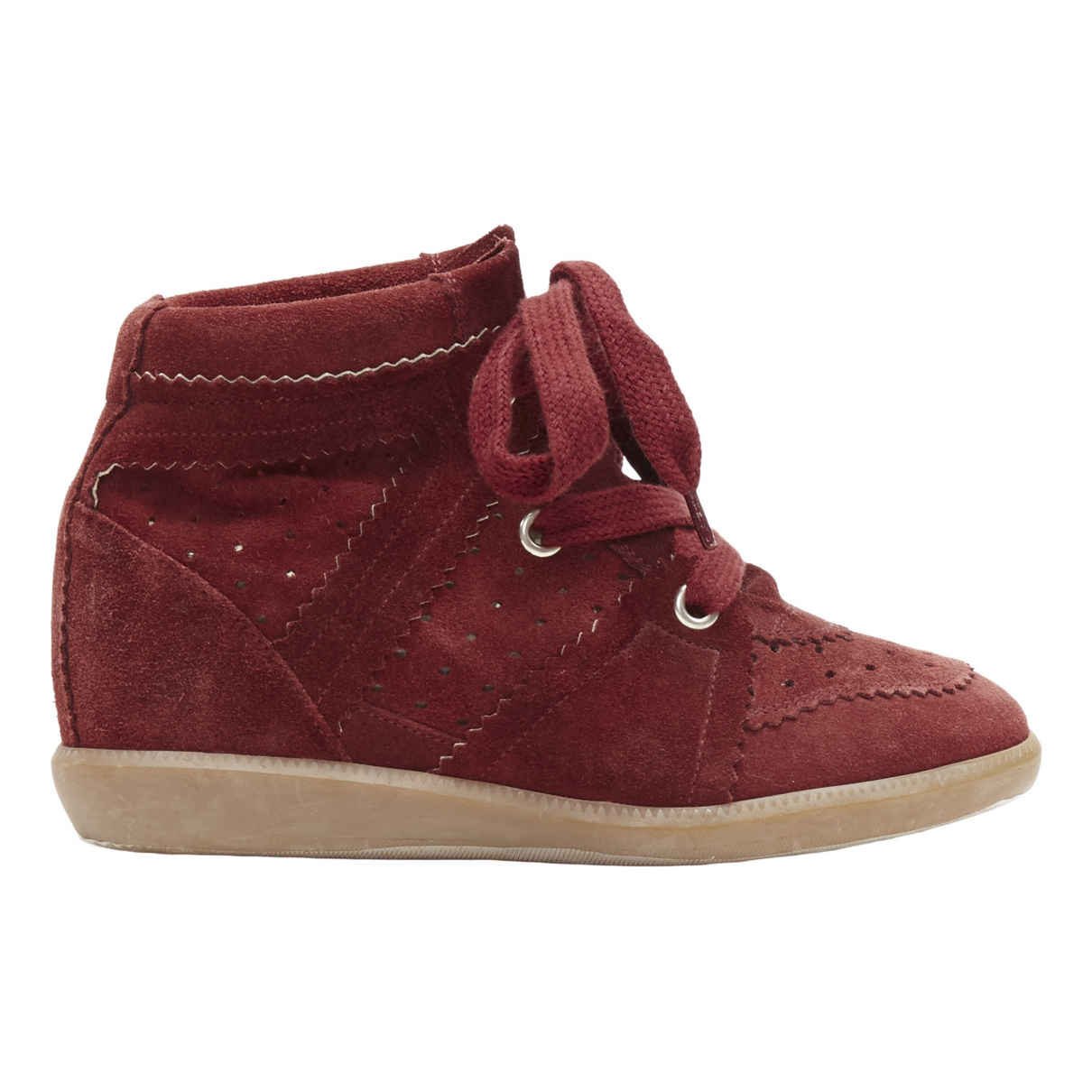 Isabel Marant - Baskets Betty pour femme en suede - bordeaux