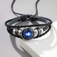Men Constellation Decor Braided Bracelet