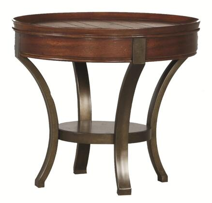 Sunset Valley Collection 197-917 ROUND END TABLE in Rich