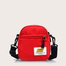Patch Zip Crossbody Bag