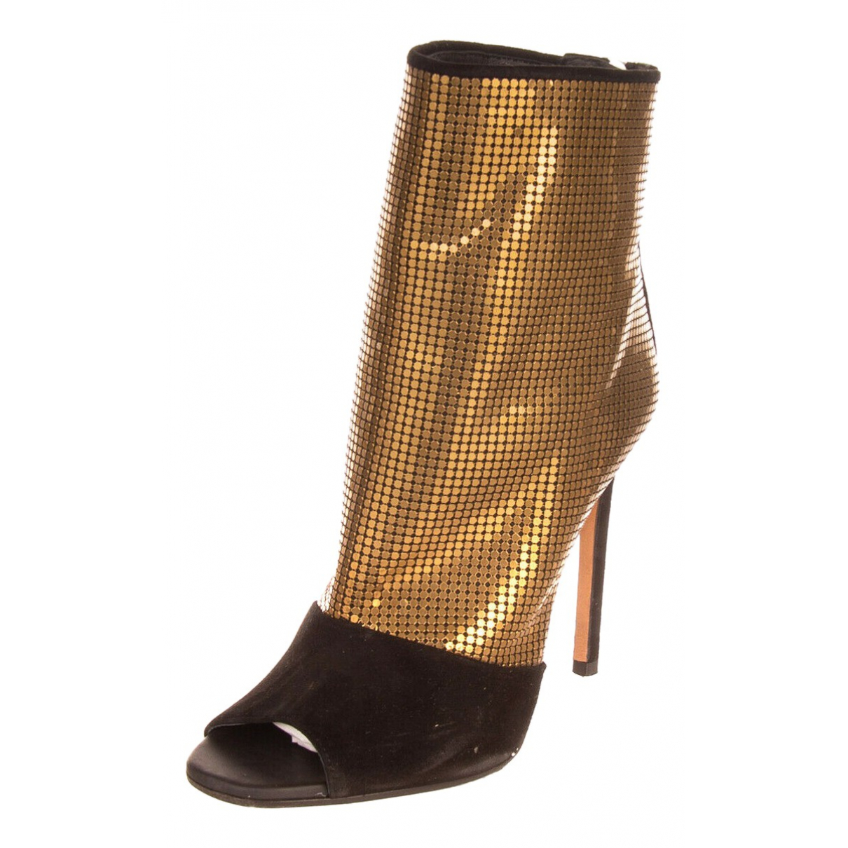 Pierre Balmain N Gold Leather Ankle boots for Women 38 EU