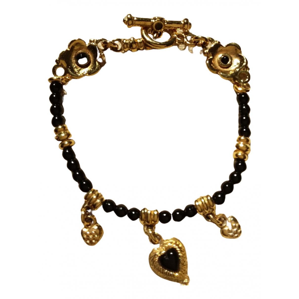 - Bracelet Motifs Coeurs pour femme en plaque or - dore