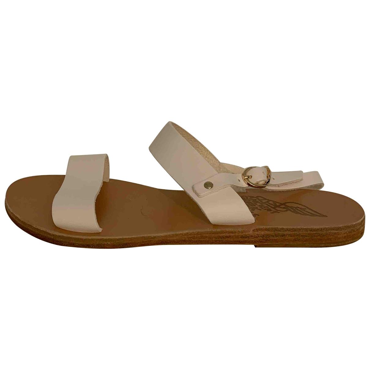 Ancient Greek Sandals - Sandales   pour femme en cuir - blanc