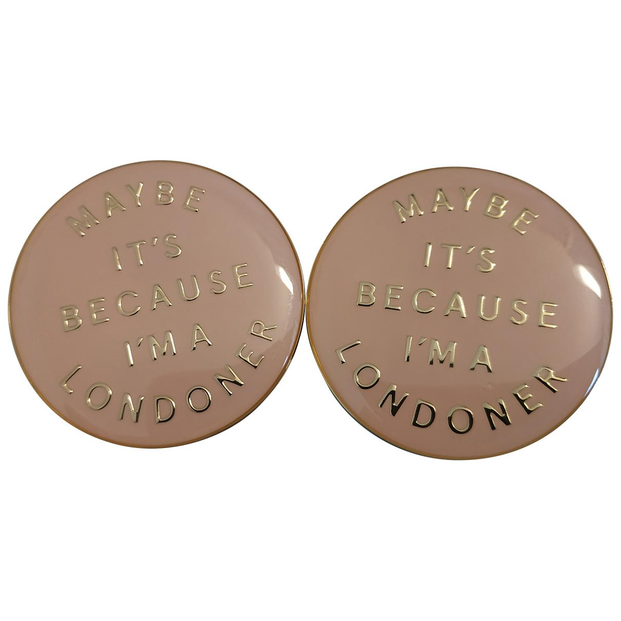 Burberry \N Brosche in  Rosa Metall