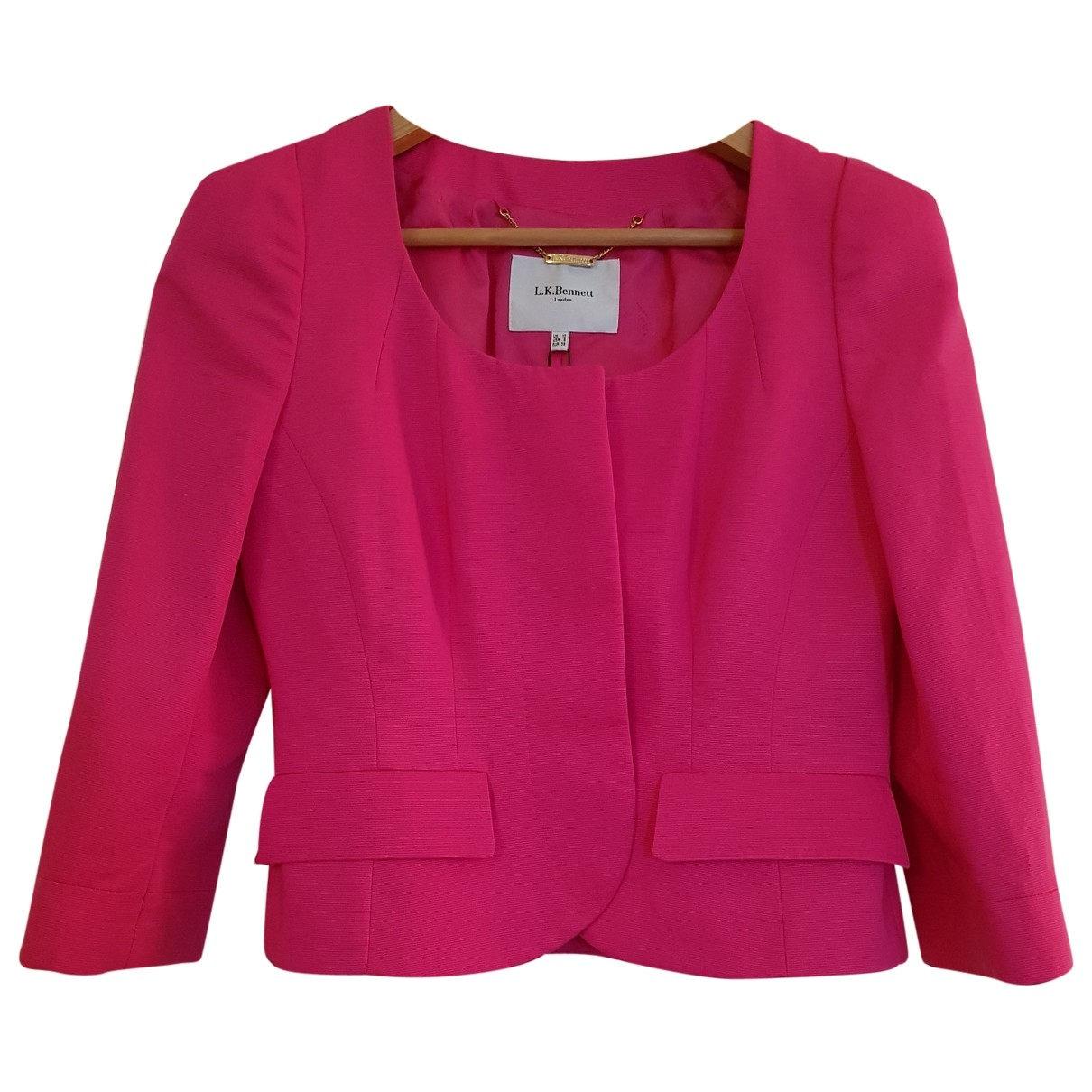 Lk Bennett \N Pink Cotton jacket for Women 10 UK