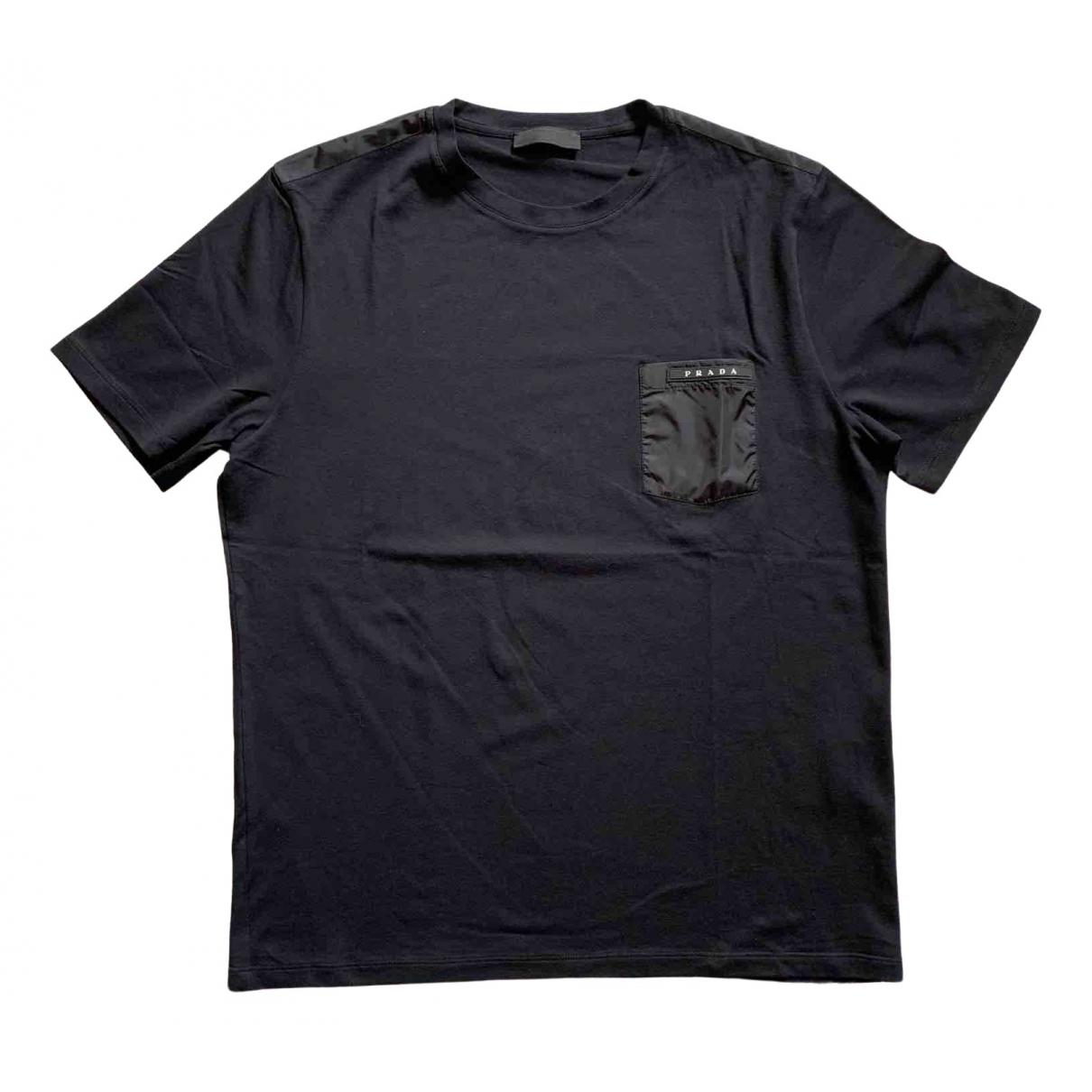 Prada \N Black Cotton T-shirts for Men L International