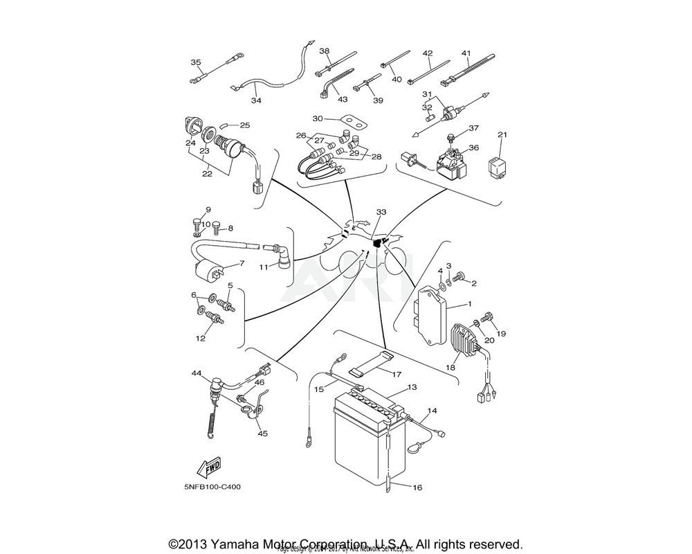 Yamaha OEM 5NF-85540-00-00 C.D.I. UNIT ASSY