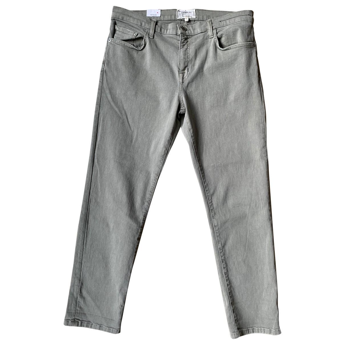 Current Elliott \N Green Cotton - elasthane Jeans for Women 31 US